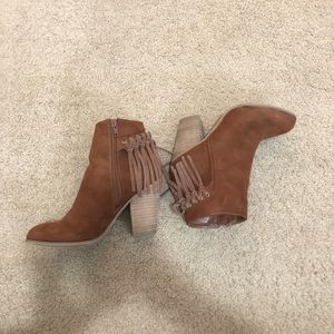 Carlos suede fringe boots